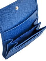 Longchamp Porte monnaie Bleu-vue-porte
