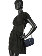 Longchamp Amazone denim Besace Noir-vue-porte