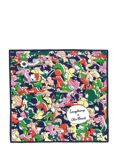 Longchamp Le pliage illustration Foulard Noir