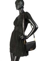 Sac Bandoulière Signature Quilted Cuir Karl lagerfeld Noir signature quilted 91KW3064-vue-porte