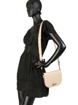 Cross Body Tas Signature Quilted Leder Karl lagerfeld Beige signature quilted 91KW3064-vue-porte