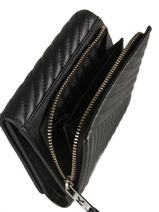 Portefeuille Cuir Karl lagerfeld Noir signature quilted 91KW3229-vue-porte