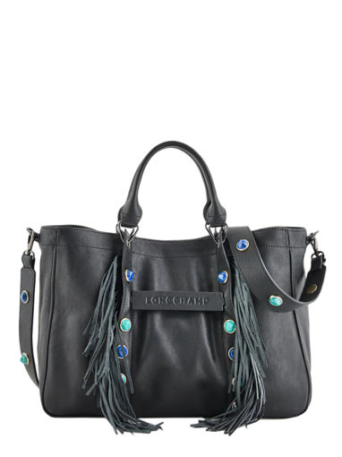 Longchamp Longchamp 3d pierre Sac porté main Noir