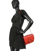 Longchamp Amazone matelassÉ Besace Rouge-vue-porte
