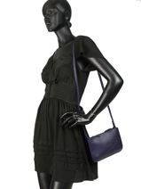 Longchamp Shop-it Cross body tas Blauw-vue-porte