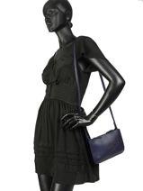 Longchamp Shop-it Sac porté travers Bleu-vue-porte