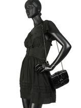 Longchamp Amazone matelassÉ vernis Besace Noir-vue-porte