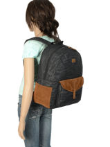Sac à Dos 1 Compartiment Roxy Noir backpack RJBP3914-vue-porte
