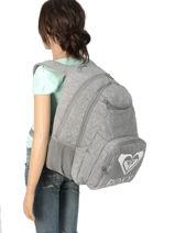 Sac à Dos 2 Compartiments Roxy Gris backpack RJBP3889-vue-porte