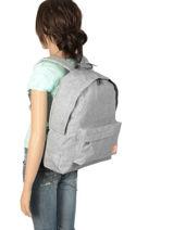 Sac à Dos 1 Compartiment Roxy Gris backpack RJBP3836-vue-porte
