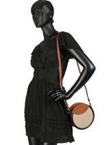 Sac Bandoulière Couture Miniprix Noir couture R1508A-vue-porte