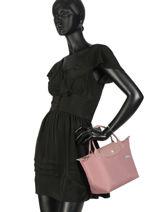 Longchamp Le pliage club Sac porté main Rose-vue-porte