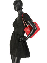 Sac Shopping Sweet Candy Guess Rouge sweet candy VG717520-vue-porte