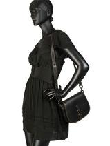 Sac Bandoulière Saddle Bag Cuir Coach Noir saddle bag 54202-vue-porte