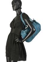 Sac Shopping Beth Cuir Pieces Bleu beth 17093695-vue-porte
