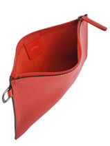 Longchamp Roseau essential Clutch Rood-vue-porte
