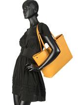 Longchamp Roseau essential Besace Marron-vue-porte