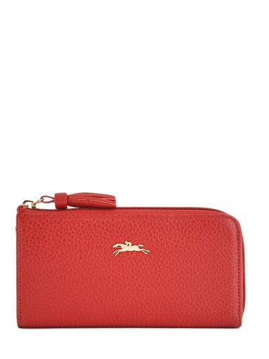 Longchamp Pénélope Portefeuille Rouge