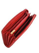 Longchamp Pénélope Portefeuille Rouge-vue-porte