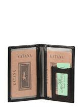 Porte-cartes Cuir Katana Noir tampon 253102-vue-porte