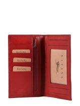 Porte-chéquier Cuir Katana Rouge tampon 253008-vue-porte