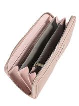 Portefeuille Miniprix Rose saffiano K1688-vue-porte
