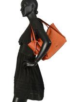 Sac Shopping Jockey Etrier Orange jockey EJOC05-vue-porte