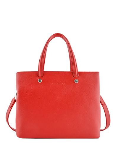 Longchamp Le foulonné Sac porté main Rouge