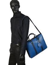 Longchamp LE FOULONNÉ BICOLORE Aktetas Zwart-vue-porte