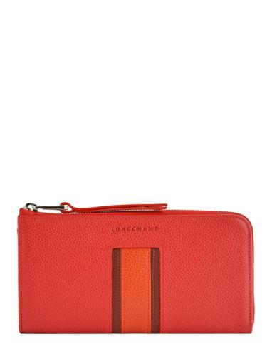 Longchamp Le foulonnÉ tricolore Portefeuille Rouge