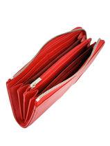 Longchamp Le foulonnÉ tricolore Portefeuille Rouge-vue-porte