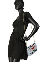 Sac Bandoulière Th Heritage Tote Tommy hilfiger Beige th heritage tote AW06874-vue-porte