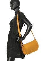 Cross Body Tas Vintage Leder Paul marius Geel vintage VAGABOND-vue-porte