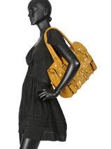 Sac Shopping Rive Gauche Cuir Paul marius Jaune vintage RIVGA-MA-vue-porte