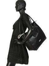 Sac Shopping Athleisure Cuir Karl lagerfeld Noir athleisure 91KW3003-vue-porte