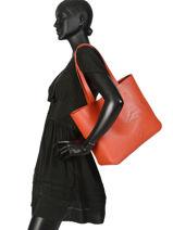 Longchamp Shop-it Besace Orange-vue-porte