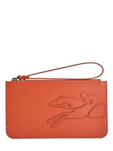 Longchamp Shop-it Clutch Oranje