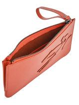 Longchamp Shop-it Clutch Oranje-vue-porte