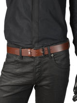 Ceinture Tommy hilfiger Noir belt AM04080-vue-porte