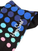 Chaussettes Faded Disco Happy socks Noir faded disco FDD01-vue-porte