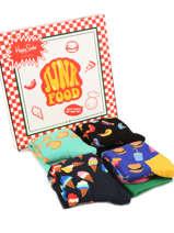 Coffret Cadeau Happy socks Noir pack XFOD09