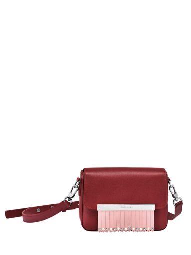 Longchamp Game on Sac porté travers Rouge