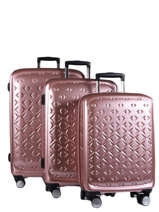 Set Reiskoffers Quadra Travel Roze quadra 18802LOT