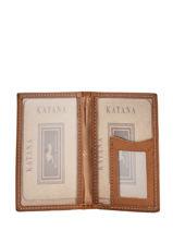 Porte-cartes Cuir Katana Or tampon 253102-vue-porte