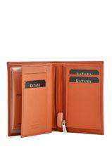 Portefeuille Cuir Katana Orange daisy 553046-vue-porte