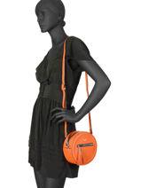 Sac Bandoulière Couture Miniprix Orange couture HJ1736-1-vue-porte