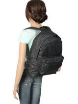 Rugzak 1 Compartiment Roxy Zwart backpack RJBP3838-vue-porte