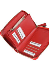 Porte-monnaie Ted lapidus Rouge jara TLMQ1503-vue-porte