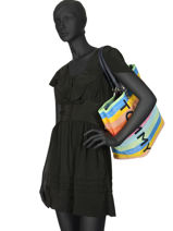 Sac Cabas A4 Tommy Summer Tommy hilfiger Multicolore tommy summer AW06781-vue-porte