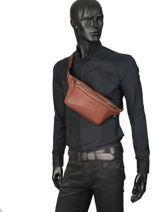 Sac Banane Black Square Piquadro Marron black square CA2174B3-vue-porte